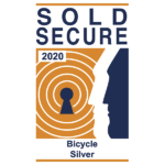 Sold Secure Logo Bicycle Silber