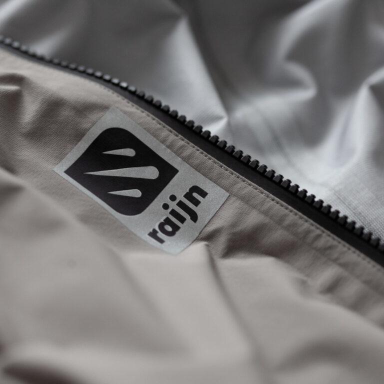 raijn rainwear fabric grey close-up